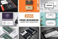 Free Business Cards Psd Templates  Creativetacos regarding Template Name Card Psd