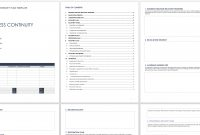 Free Business Continuity Plan Templates  Smartsheet in Business Continuity Checklist Template
