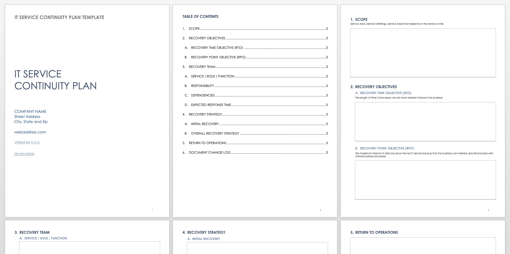 Free Business Continuity Plan Templates  Smartsheet Inside Simple Business Continuity Plan Template
