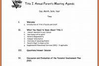 Free Business Meeting Agenda Template Word  Andrew Gunsberg throughout Event Agenda Template Word