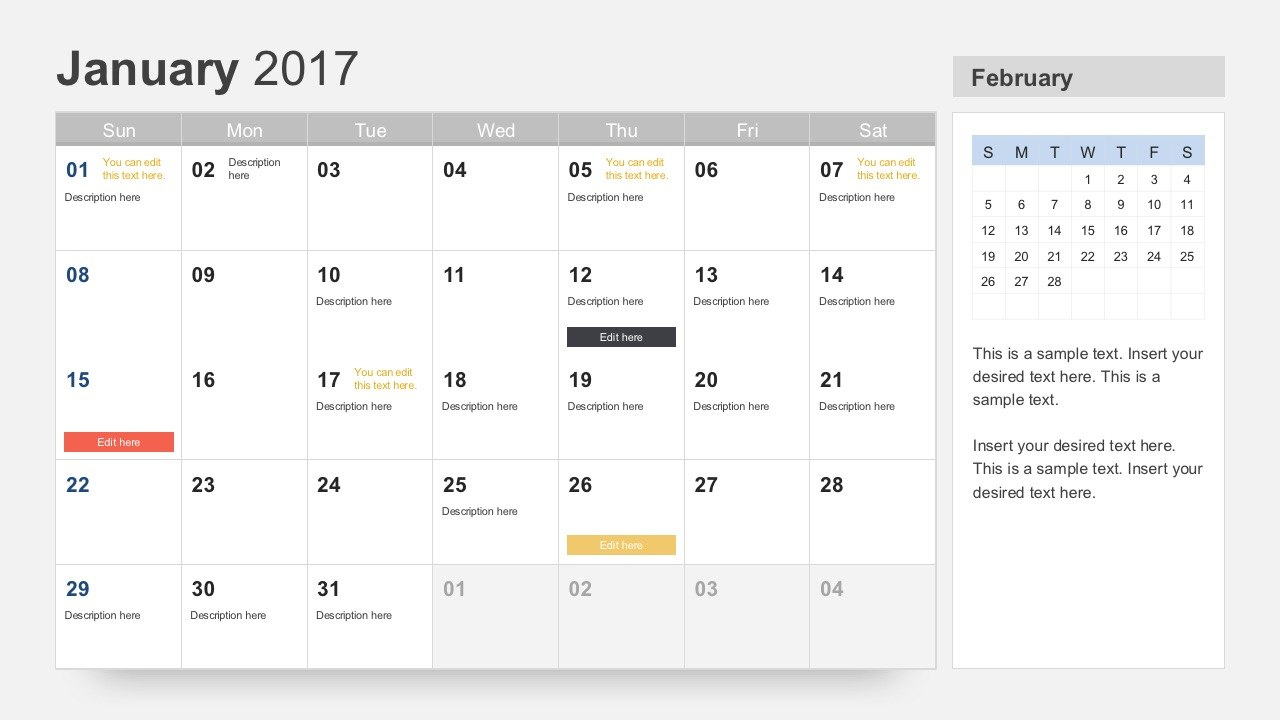Free Calendar  Template For Powerpoint With Regard To What Is A Template In Powerpoint