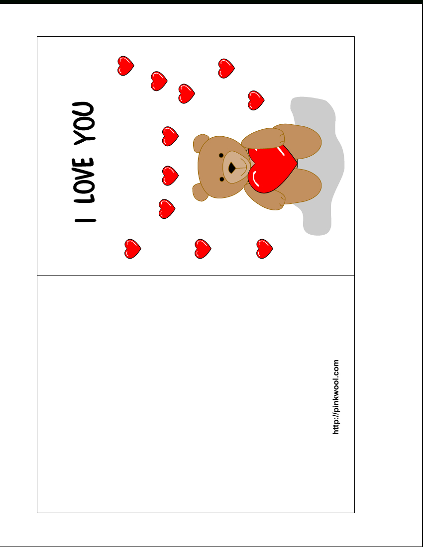Free Card Templates For Printing Images  Valentine's Day Card In Template For Cards To Print Free