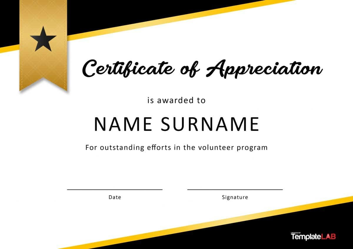 Free Certificate Of Appreciation Templates And Letters For In Appreciation Certificate Templates