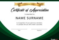 Free Certificate Of Appreciation Templates And Letters pertaining to Gratitude Certificate Template