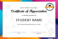 Free Certificate Of Appreciation Templates And Letters with Free Certificate Of Appreciation Template Downloads