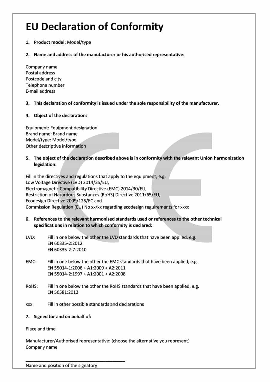 Free Certificate Of Conformance Templates  Forms ᐅ Template Lab Pertaining To Certificate Of Compliance Template