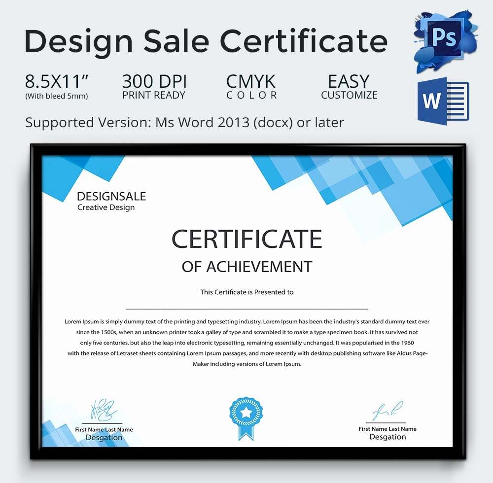 Free Certificate Templates For Word – Emelinespace In Sales Certificate Template