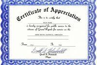 Free Certificates Of Appreciation Templates Within Certificate for Update Certificates That Use Certificate Templates