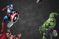 Free Chalkboard Avenger Birthday Invitation  Ry  Bd  Birthday for Avengers Birthday Card Template