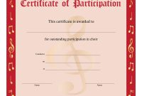 Free Choir Certificate Of Participation Templates  Pdf  Free for Choir Certificate Template