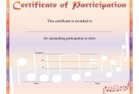 Free Choir Certificate Of Participation Templates  Pdf  Free pertaining to Choir Certificate Template