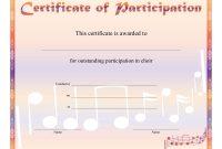 Free Choir Certificate Of Participation Templates  Pdf  Free within Templates For Certificates Of Participation