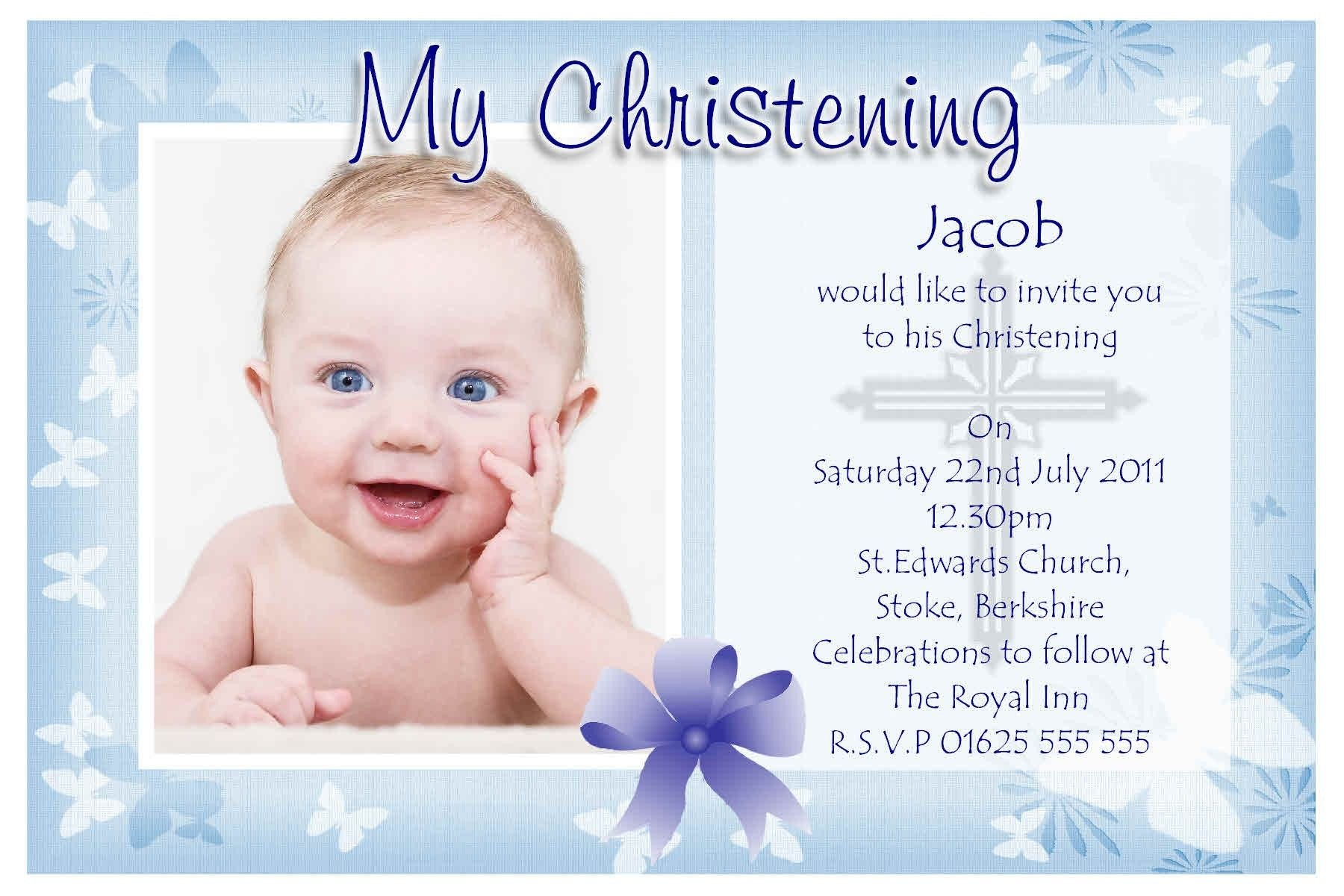 Free Christening Invitation Templates  Baptism Invitations Throughout Baptism Invitation Card Template