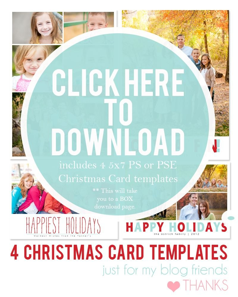Free Christmas Card Templates For   Christmas Card Ideas Within Free Christmas Card Templates For Photographers