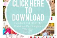 Free Christmas Card Templates For   Christmas Card Ideas within Free Photoshop Christmas Card Templates For Photographers