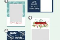 Free Christmas Card Templates  The Crazy Craft Lady pertaining to Happy Holidays Card Template