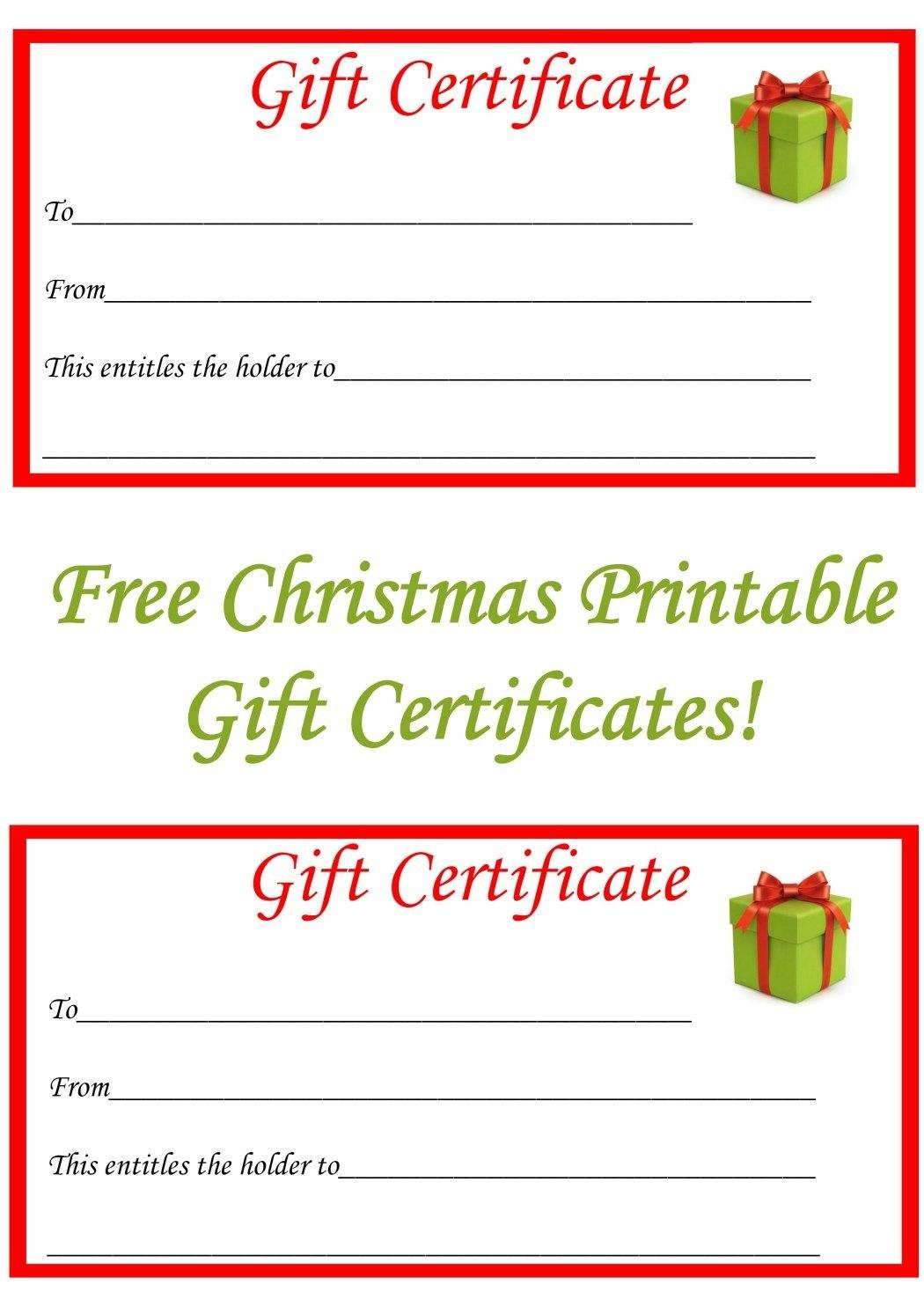Free Christmas Printable Gift Certificates  Gift Ideas  Christmas Throughout Free Christmas Gift Certificate Templates