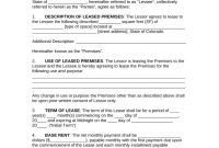 Free Colorado Commercial Lease Agreement Template  Pdf  Word inside Business Lease Agreement Template