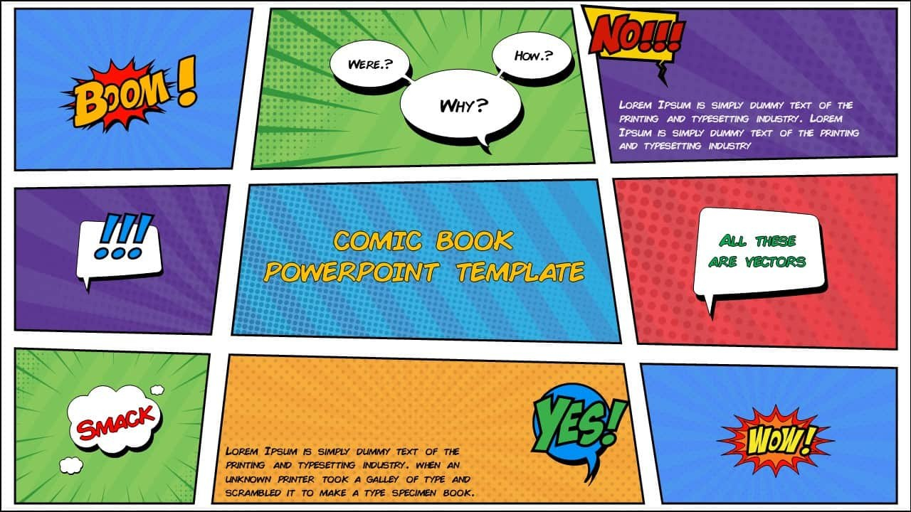 Free Comic Book Powerpoint Template For Download  Slidebazaar In Comic Powerpoint Template