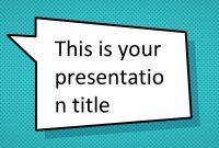Free Comic Book Powerpoint Template  Superhero Ppt Design for Powerpoint Comic Template