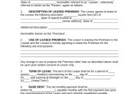 Free Commercial Rental Lease Agreement Templates  Pdf  Word inside Corporate Housing Lease Agreement Template