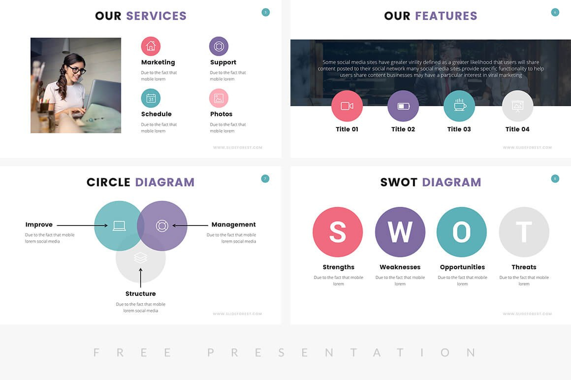 Free Company Profile Powerpoint Templates For Presentations Within Biography Powerpoint Template