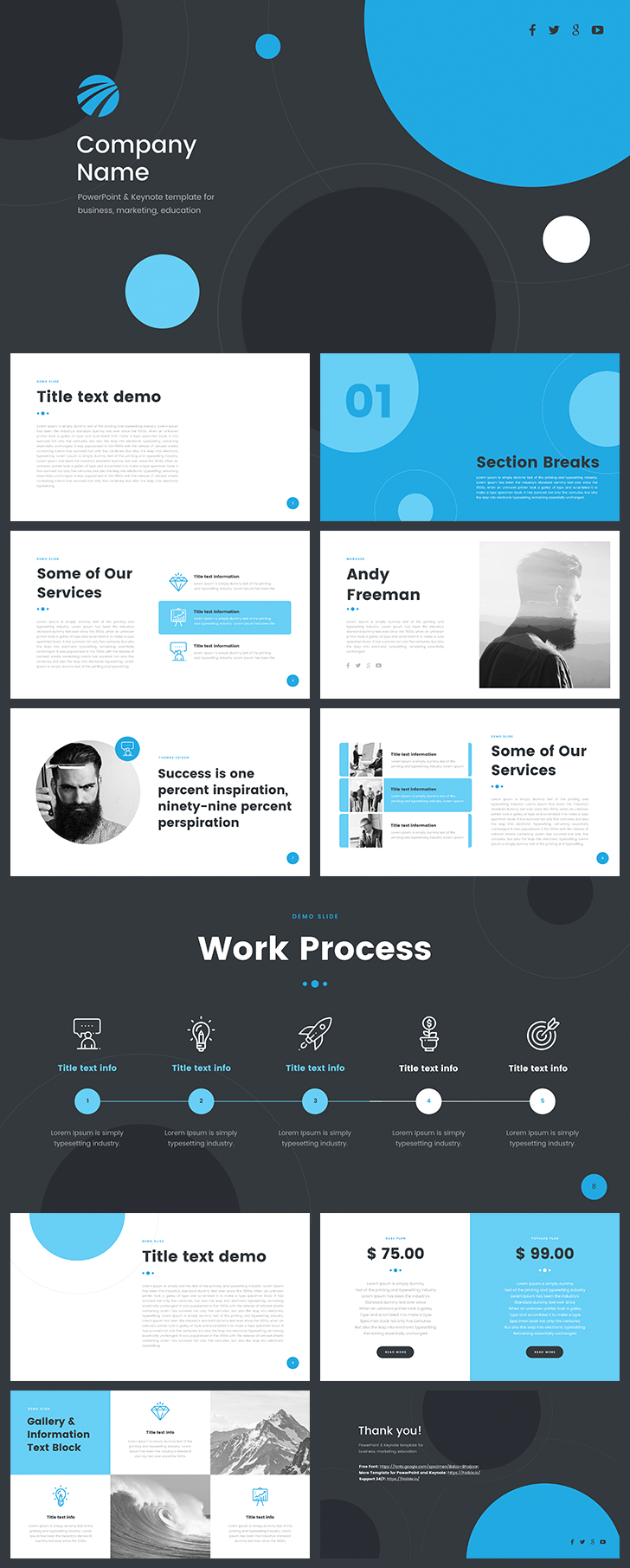 Free Company Profile Template Powerpoint  Ppt  Company Profile For Free Business Profile Template Download
