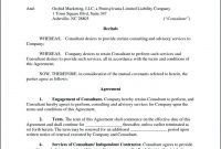 Free Consulting Contract Template Frightening Ideas Uk Marketing with Freelance Consulting Agreement Template