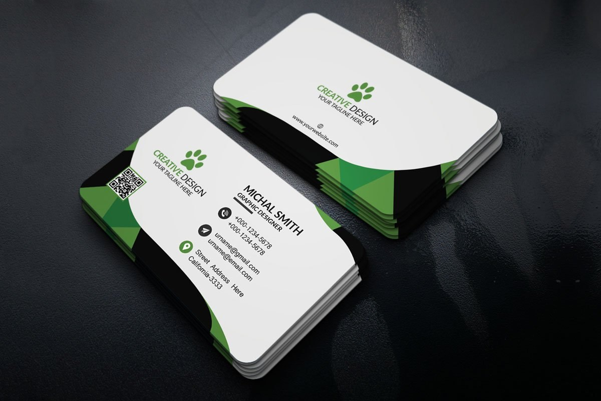 Free Corporate Business Card Template  Creativetacos In Free Personal Business Card Templates