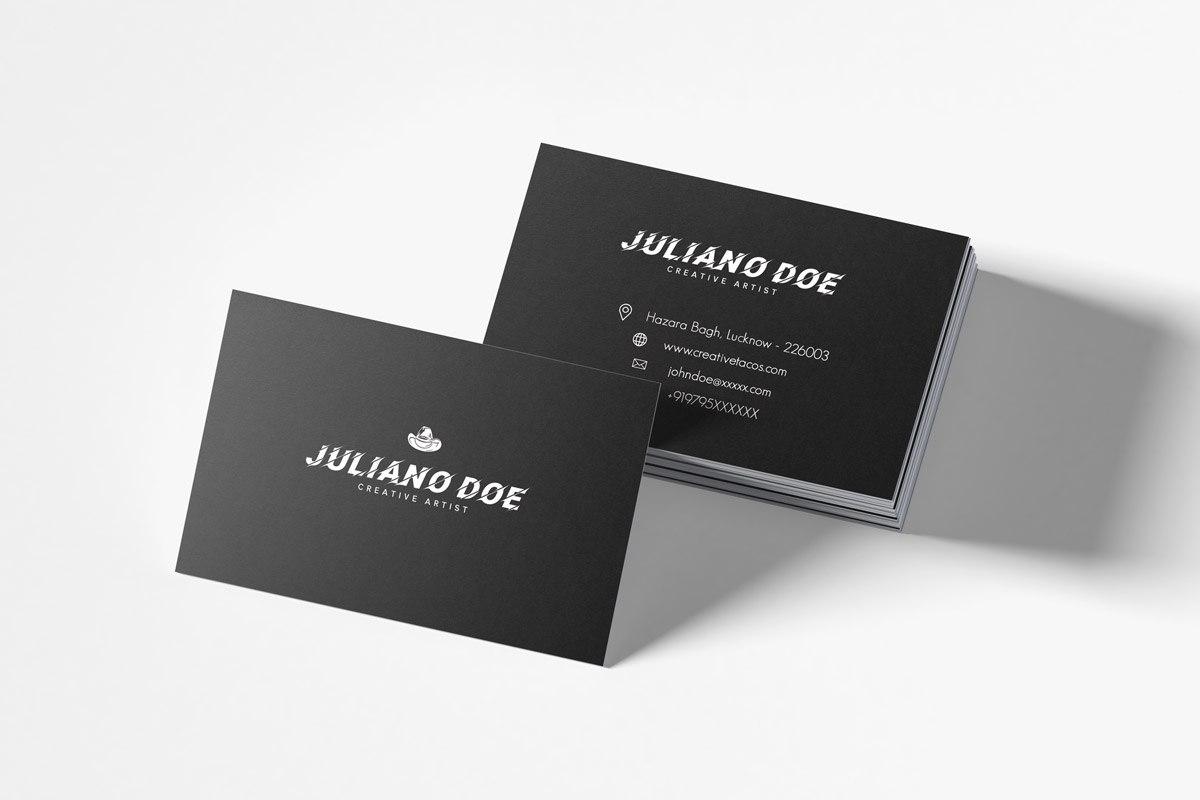 Free Creative Business Card Template  Creativetacos With Unique Business Card Templates Free