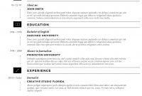 Free Creative Resume Templates  Free Resume Templates For regarding Microsoft Word Resumes Templates
