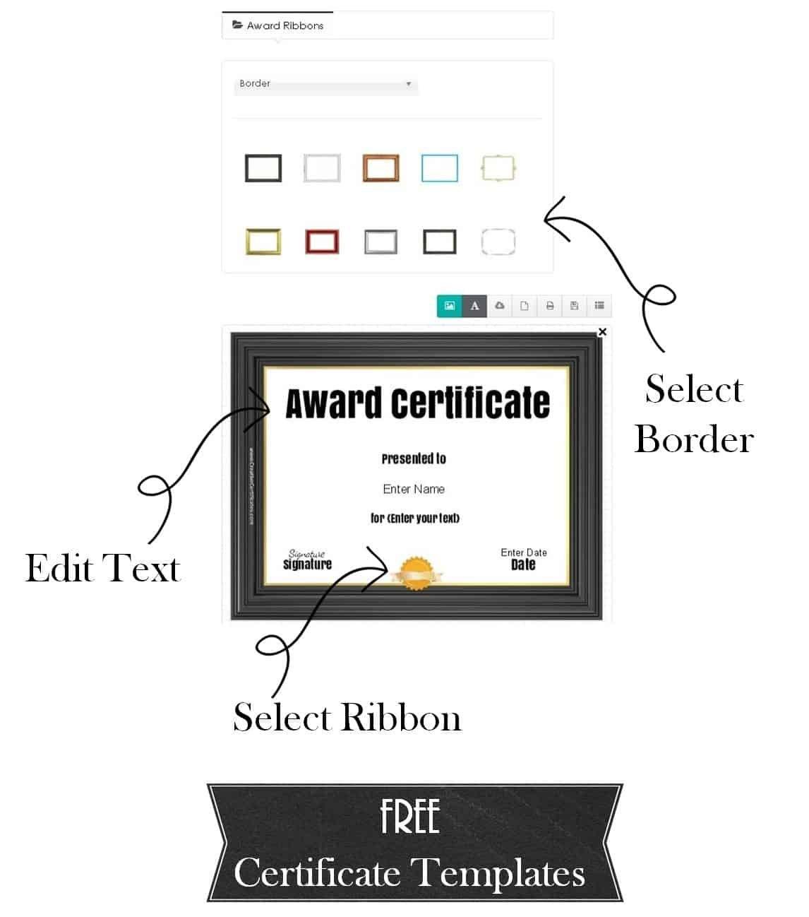 Free Custom Certificate Templates  Instant Download In Running Certificates Templates Free