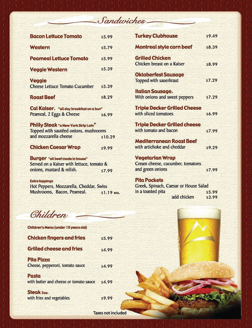 Free Daily Menu Templates For Microsoft Word Takeout Restaurant Intended For Takeaway Menu Template Free