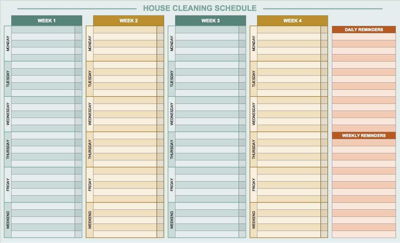 Free Daily Schedule Templates For Excel  Smartsheet Regarding Employee Daily Report Template