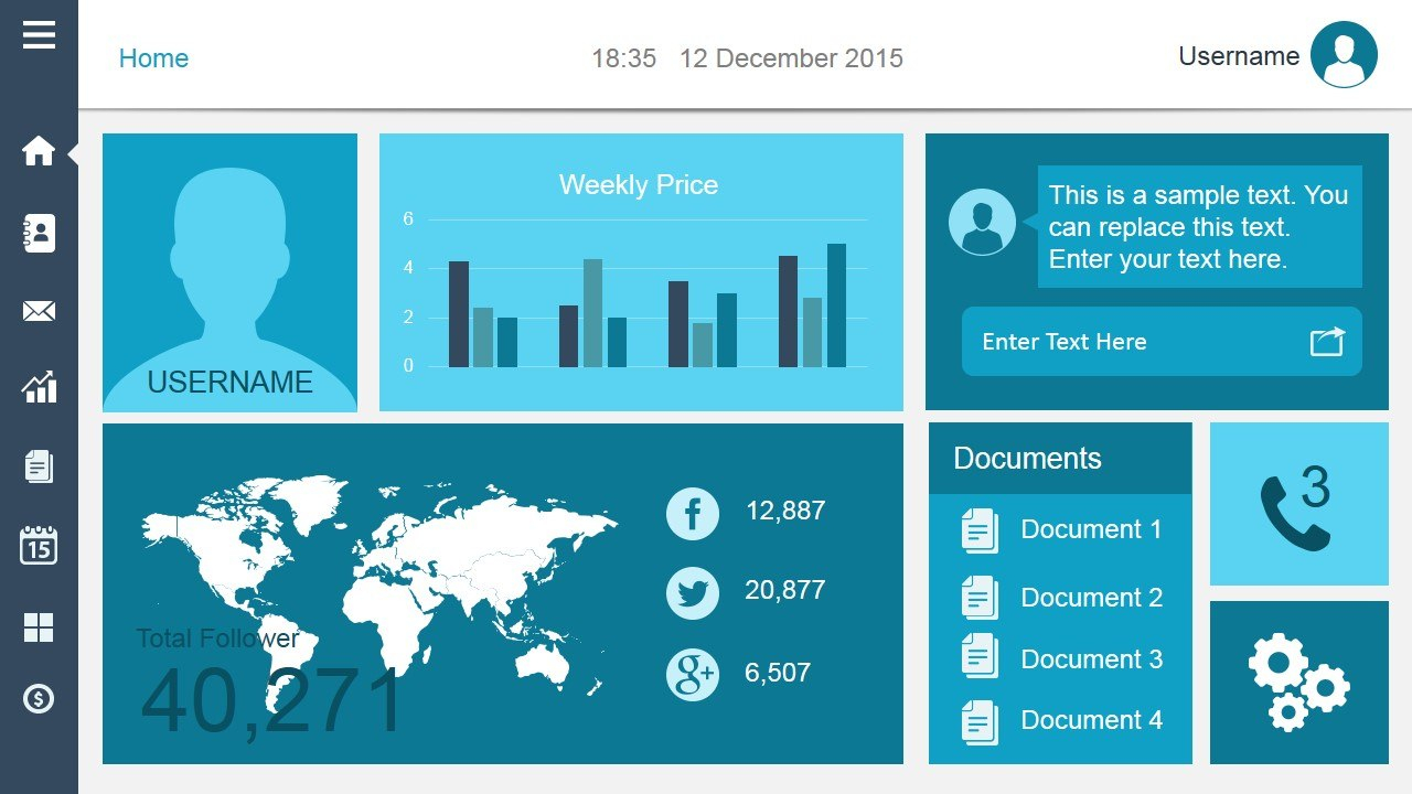 Free Dashboard Templates Pertaining To Powerpoint Dashboard Template Free