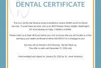 Free Dental Medical Certificate Sample  Psg  Free Dental Dental for Fake Medical Certificate Template Download