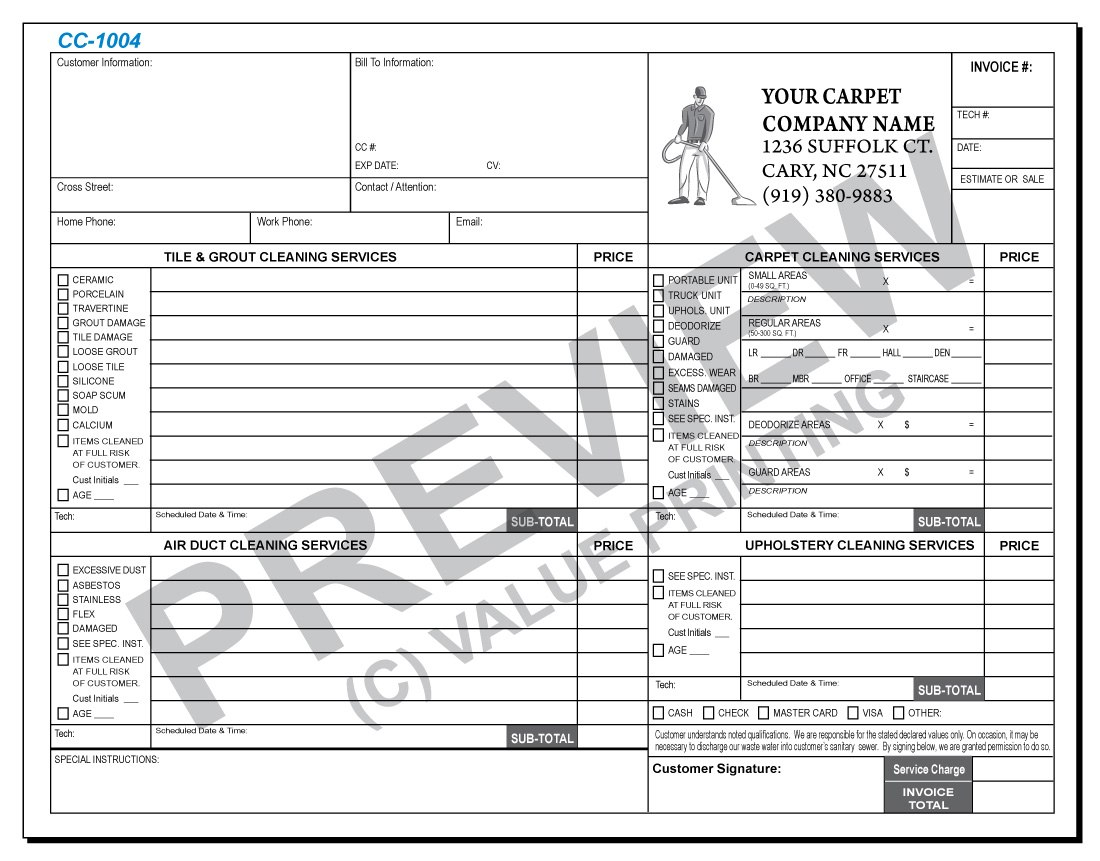 Free Design Fast Shipping On Carpet Cleaning Forms Within Carpet Cleaning Service Contract Templates