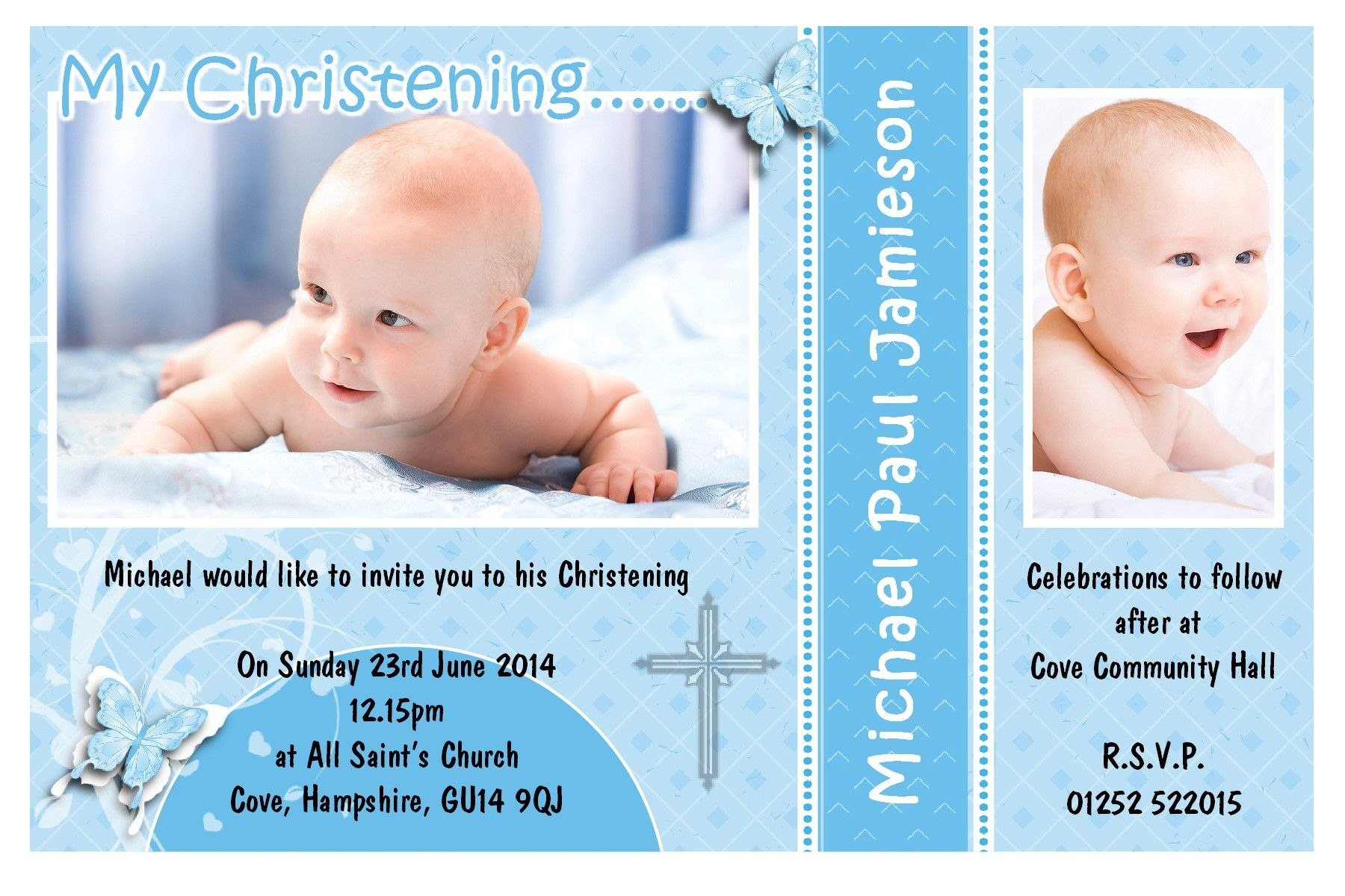 Free Download Baptism Invitation Template  Baptism Invitations With Free Christening Invitation Cards Templates