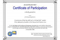 Free Download Certificate Of Participation Template  Lara Intended within Certificate Of Participation Word Template