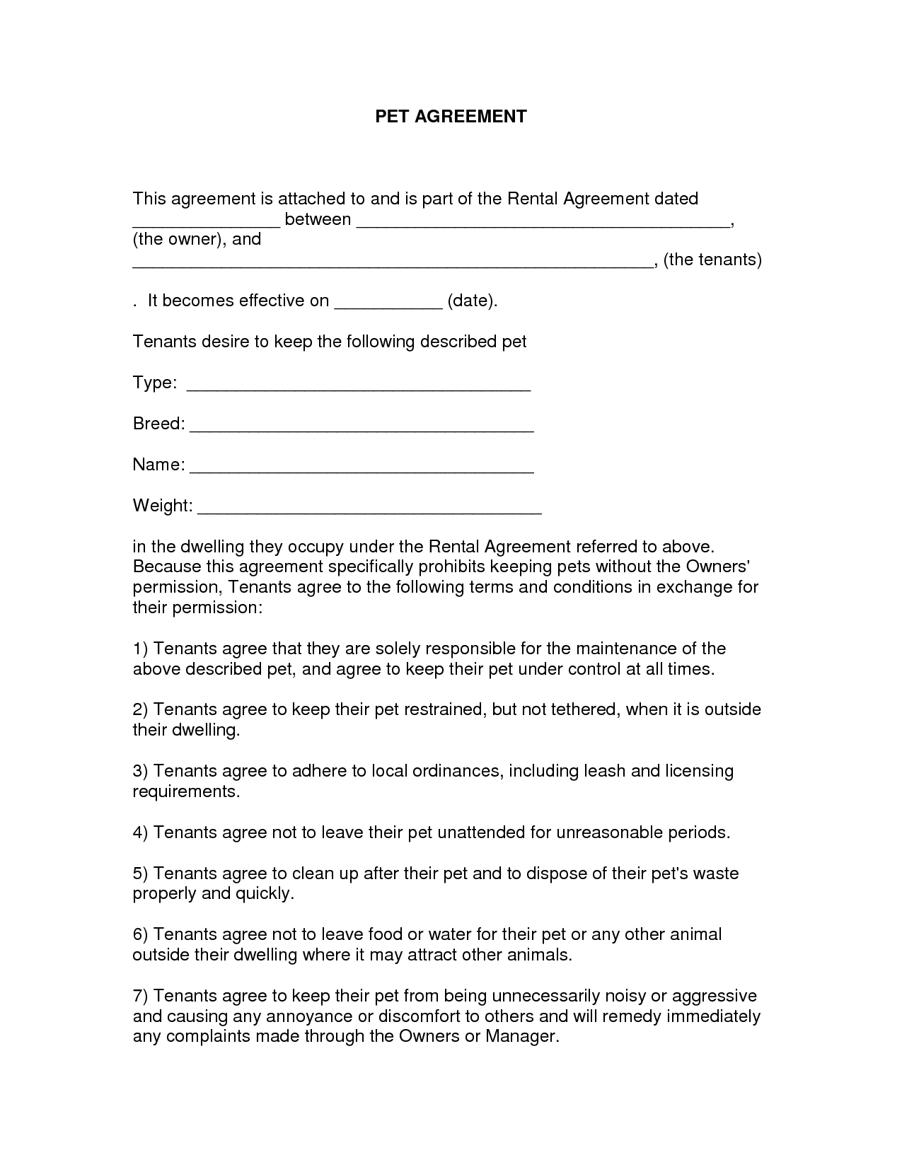 Free Easy Lease Agreement To Print  Free Printable Lease Agreement Within Free Tenant Lease Agreement Template