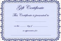 Free Editable Certificates Templates Guarantee Certificate Format In with regard to Scholarship Certificate Template Word