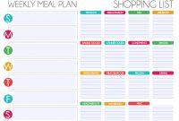 Free Editable Menu Plan And Grocery List  Organization  Meal Plan regarding Menu Planner With Grocery List Template