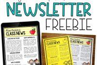 Free Editable Newslettermplatesmplate Ideas Forachers Awesome in Blank Twitter Profile Template