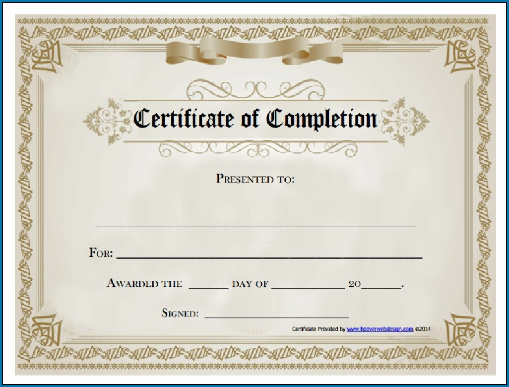 Free Editable Printable Certificate Of Completion Regarding Certificate Of Completion Template Free Printable