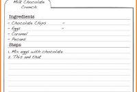 Free Editable Recipe Card Templates For Microsoft Word Ledger with Fillable Recipe Card Template