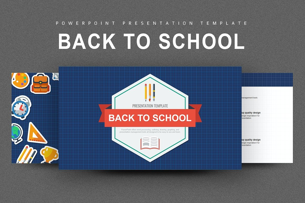 Free Education Powerpoint Presentation Templates With Regard To Back To School Powerpoint Template