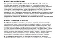 Free Employee Nondisclosure Agreement Nda  Pdf  Word Docx with Training Agreement Between Employer And Employee Template