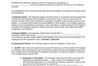 Free Employment Contract Agreement  Pdf  Word  Eforms – Free in Free Newspaper Advertising Contract Template