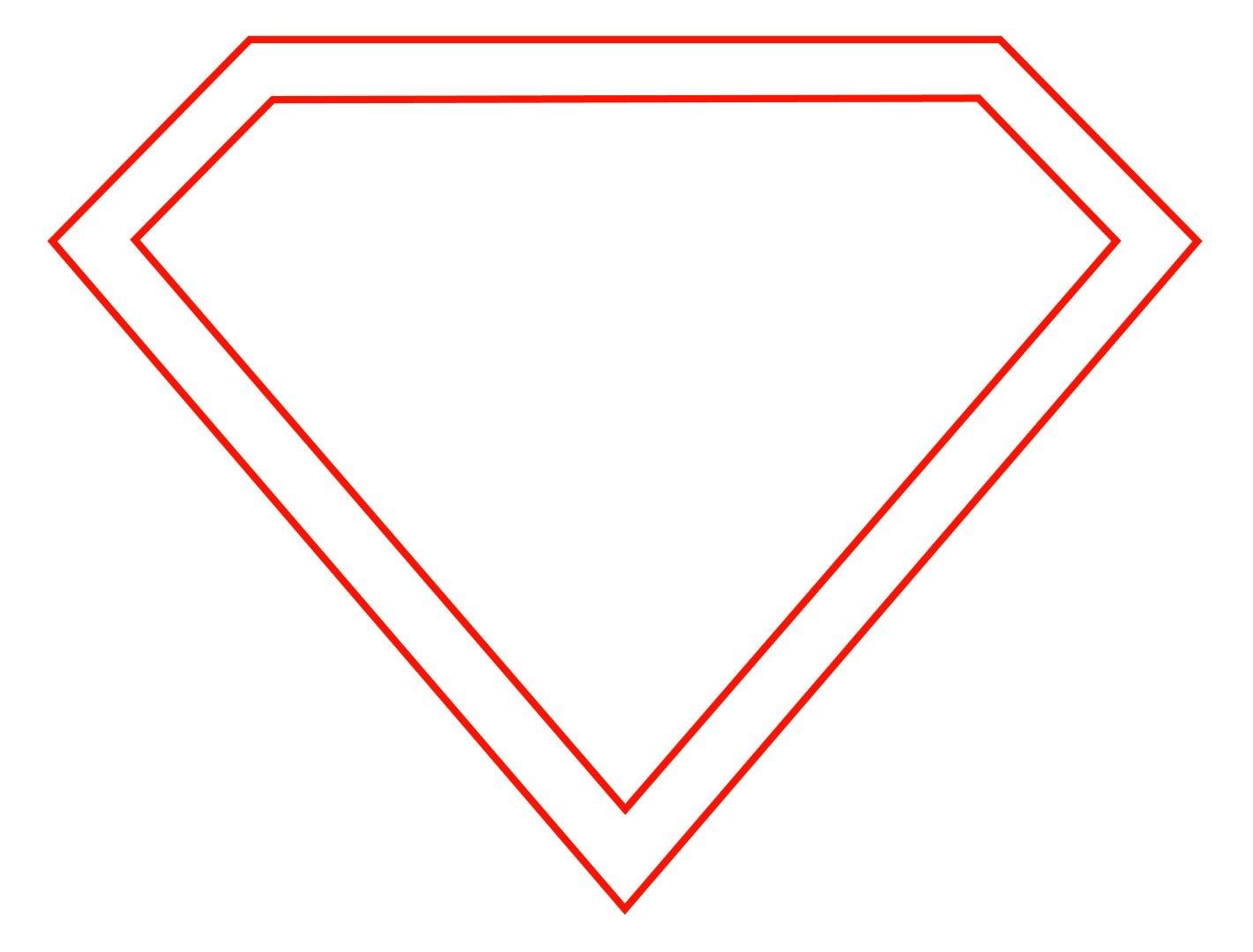 Free Empty Superman Logo Download Free Clip Art Free Clip Art On Within Blank Superman Logo Template
