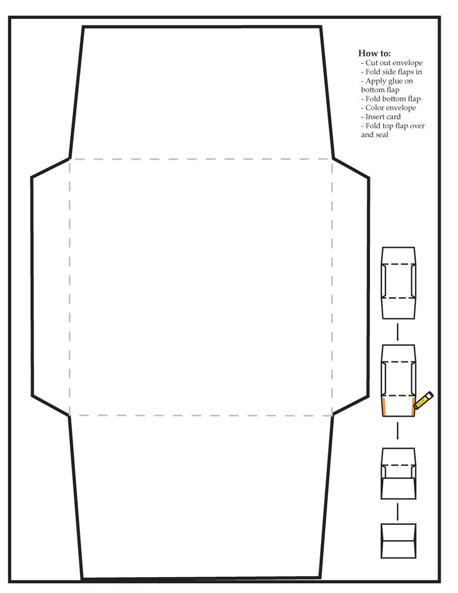 Free Envelope Templates Word  Pdf ᐅ Template Lab Intended For Envelope Templates For Card Making